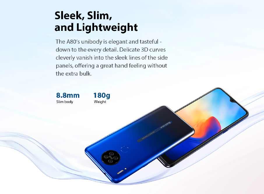Blackview A80 (2+16Gb, АКБ 4200 мАч) Blue