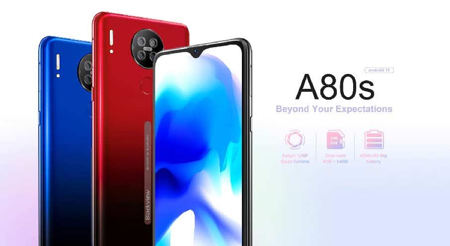 Blackview A80S (4+64Gb, АКБ 4200 мАч) Black