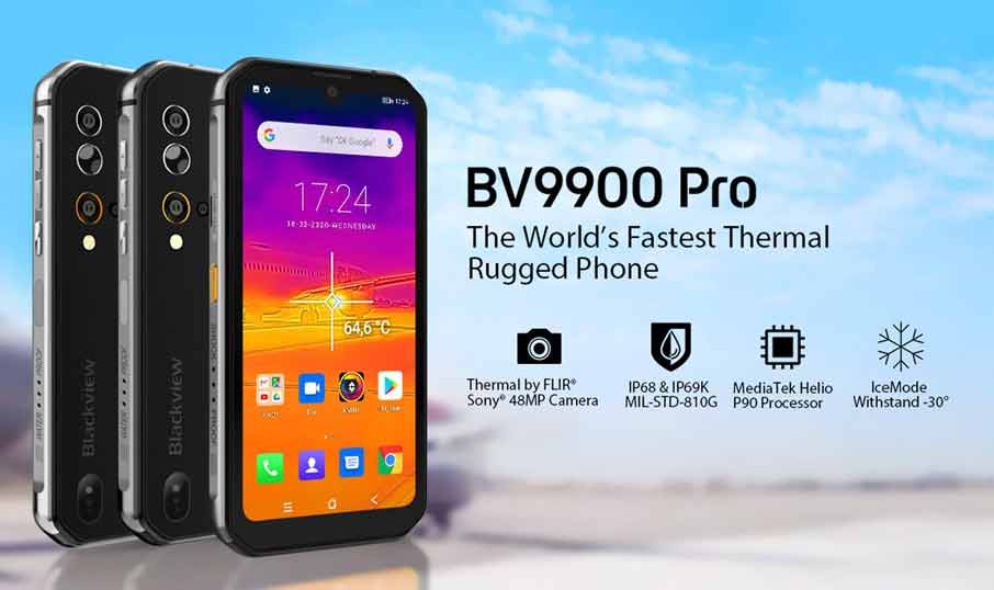 Blackview BV9900 (8+128Gb) Pro Black +тепловизор