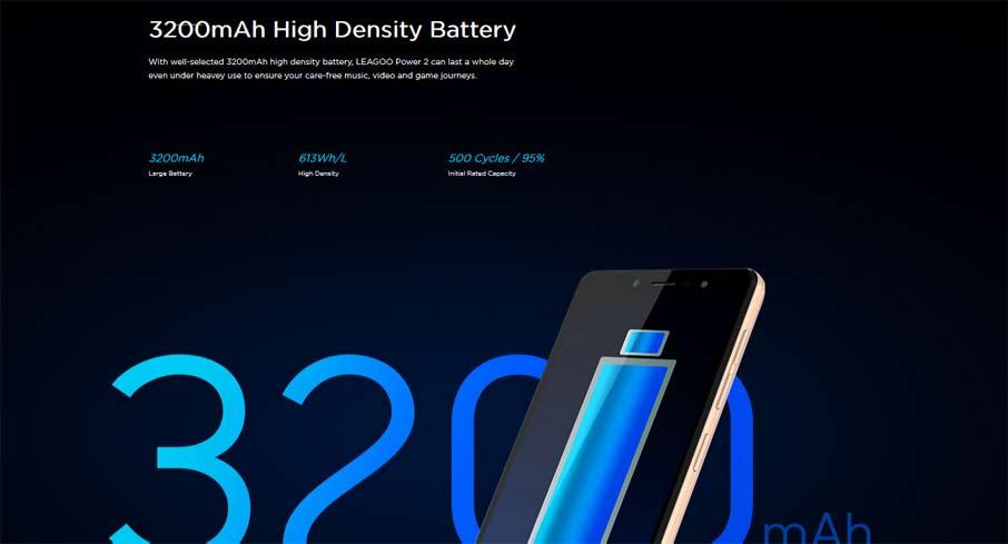 Leagoo Power 2 (2+16Gb) Black