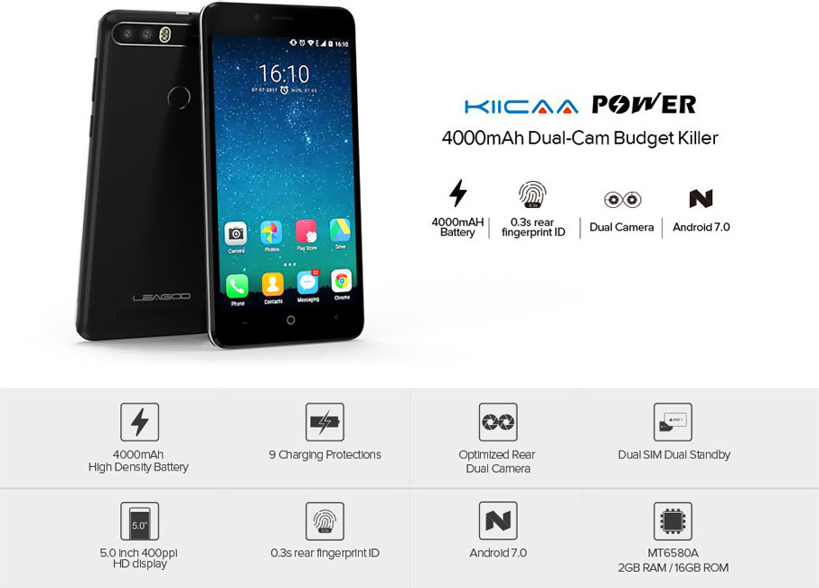 Leagoo KIICAA Power (2+16Gb) Black