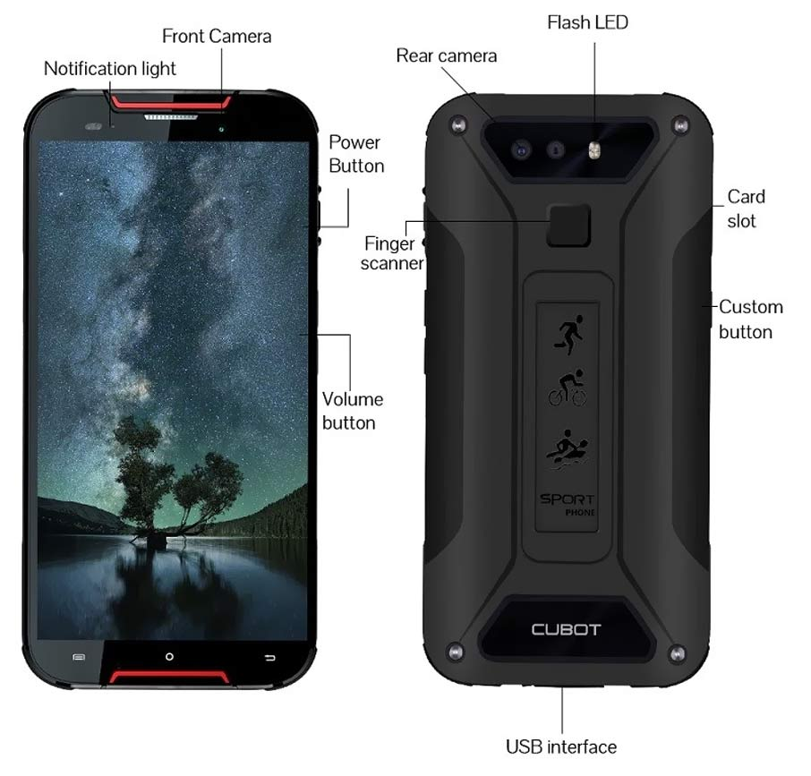 Cubot Quest Lite (3+32Gb) Red