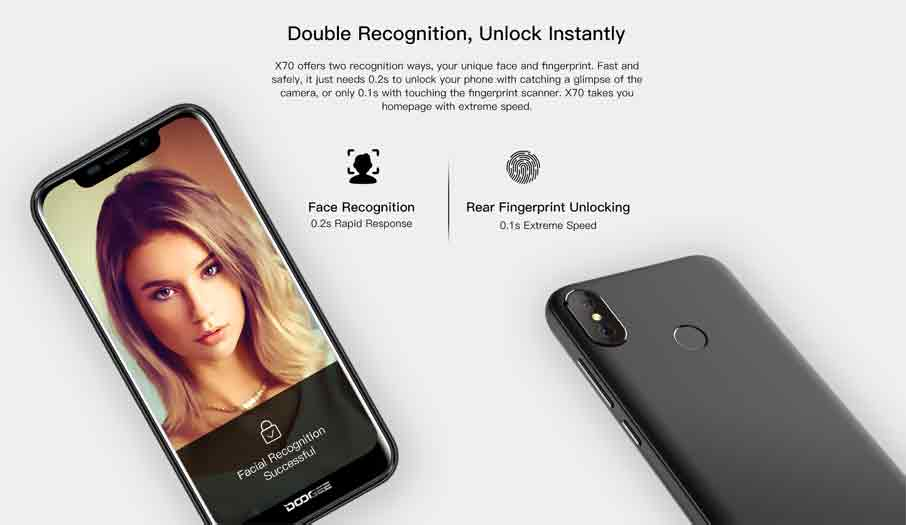 Doogee X70 (2+16Gb) Black