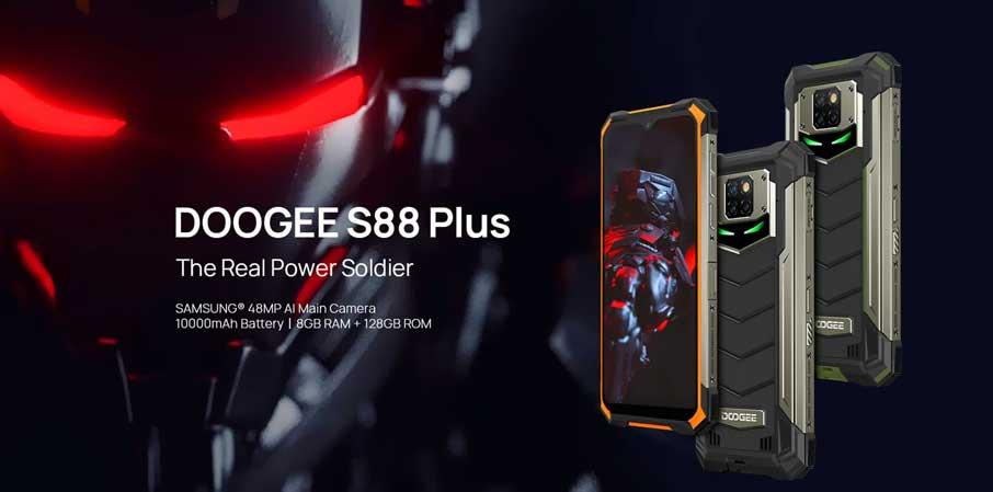 Doogee S88 Plus (8+128Gb, АКБ 10000 мАч) Black