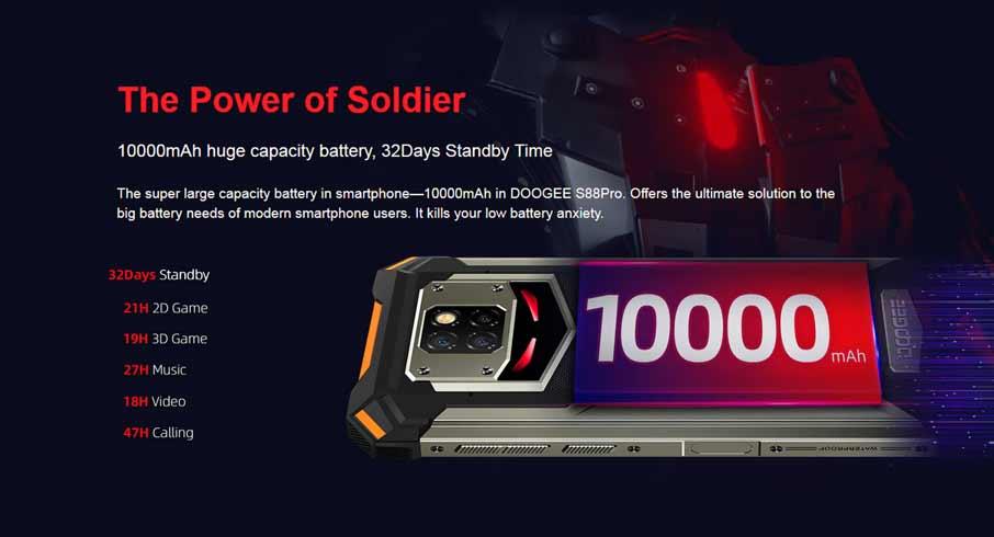 Doogee S88 Pro (6+128Gb, АКБ 10000 мАч) Yellow