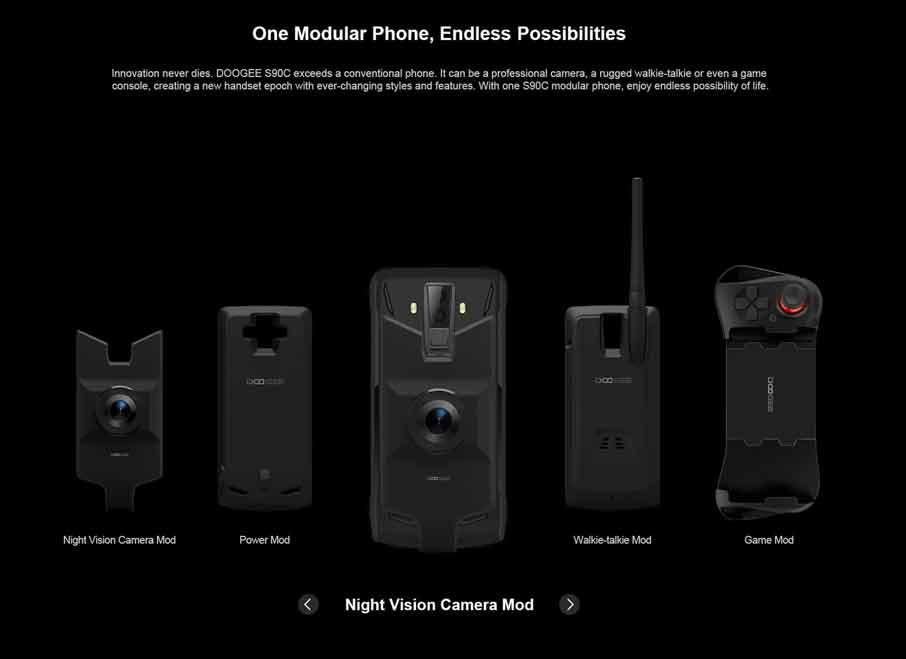 Doogee S90C GIFT (4+64Gb) Black подарочная версия