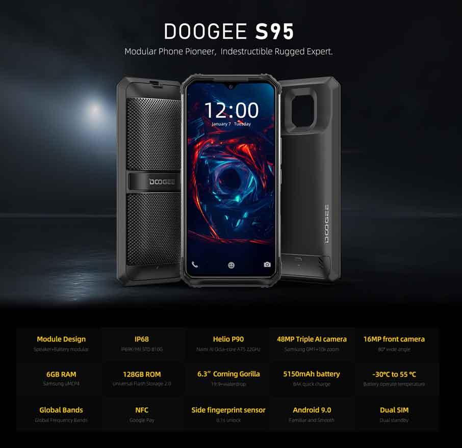 Doogee S95 (6+128Gb) Black