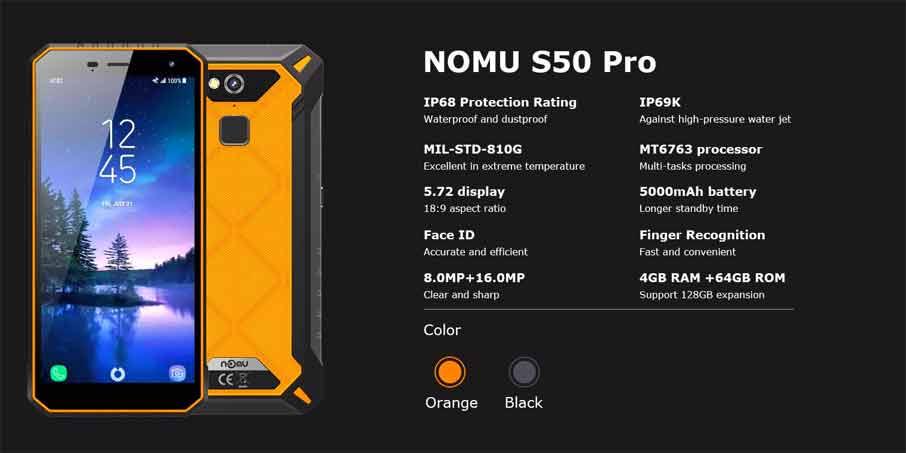 Nomu S50 Pro (4+64Gb) Yellow