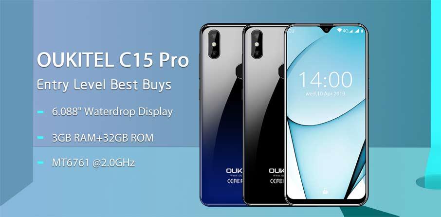 Oukitel C15  Pro (2+16Gb) Black