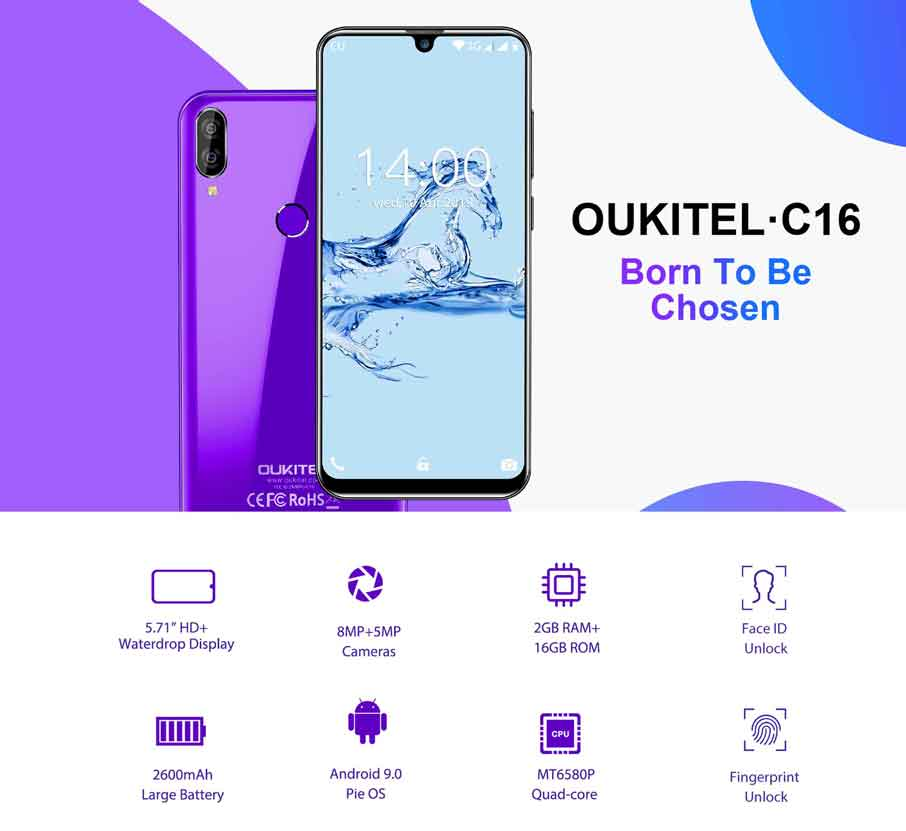 Oukitel C16 (2+16Gb) Black