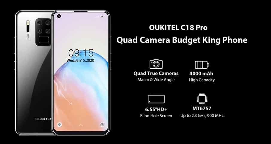 Oukitel C18 Pro (4+64Gb) Black