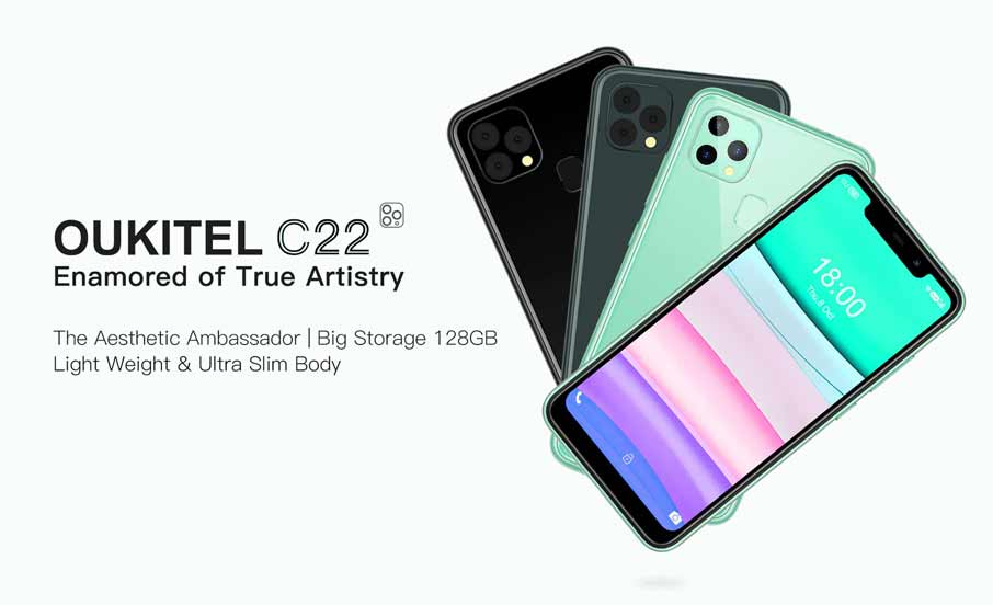 Oukitel C22 (4+128Gb) Black