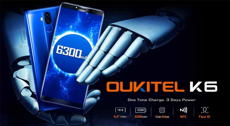 Oukitel K6 Black