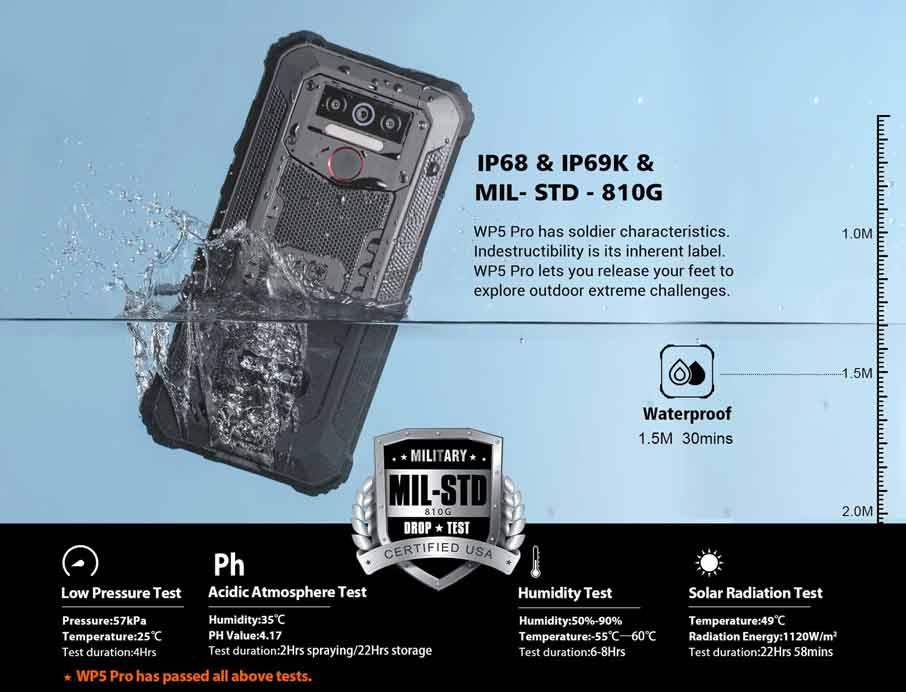 Oukitel WP5 (4+64GB, АКБ 8000 мАч) Pro