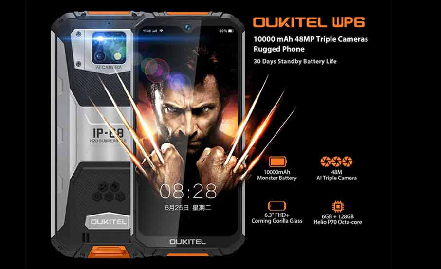 Oukitel WP6 (6+128Gb, АКБ 10000 мАч) Yellow