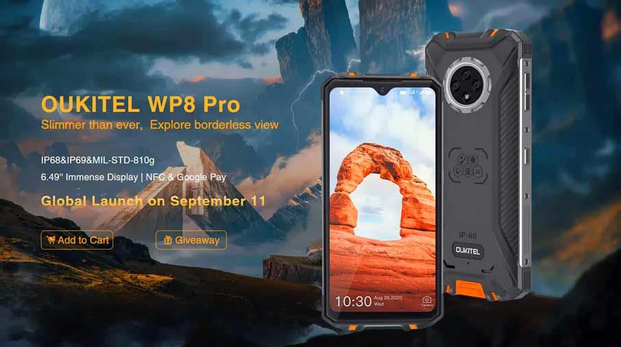 Oukitel WP8 Pro (4+64Gb, АКБ 5000 мАч) Yellow