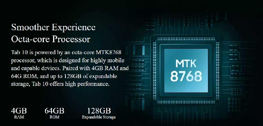 Планшет Blackview Tab 10 (4+64Gb 7480 мАч) LTE Gold