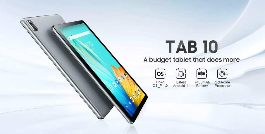 Планшет Blackview Tab 10 (4+64Gb 7480 мАч) LTE Grey