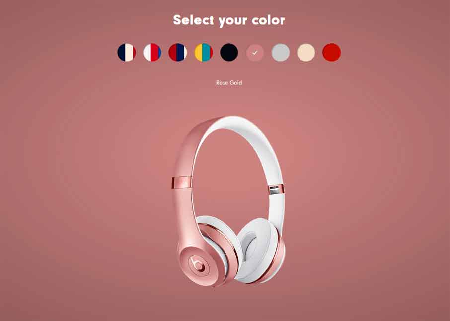 Beats Solo3 Wireless Gloss Roze Gold (MNEN2)