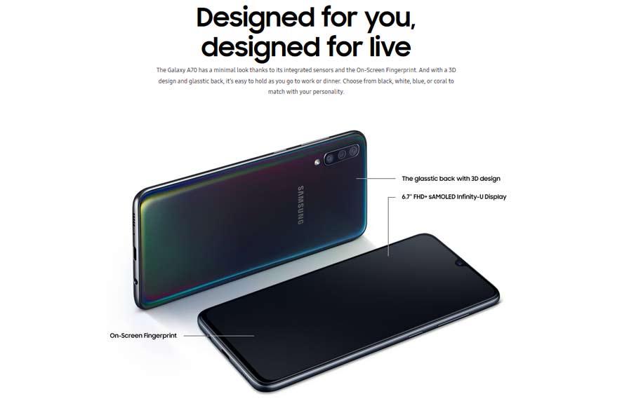 Samsung Galaxy A70 SM-A705F (6+128GB) Black