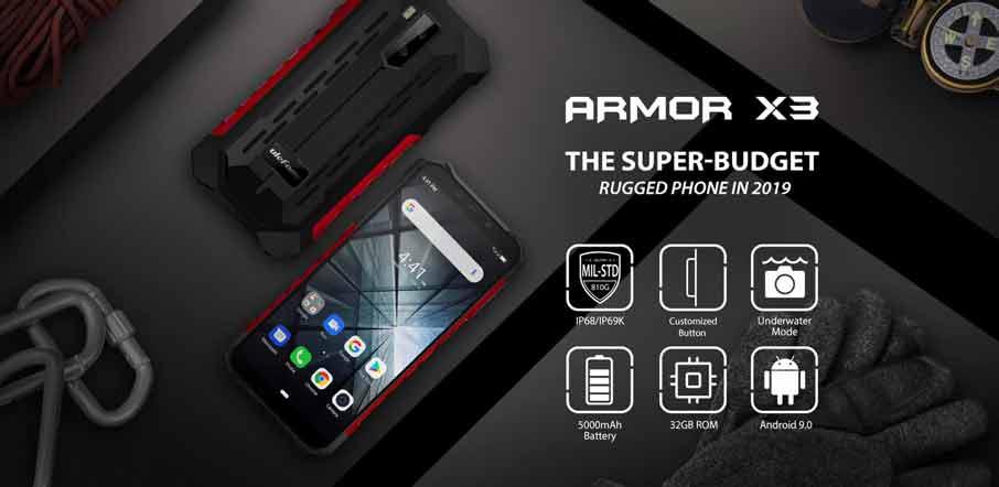 Ulefone Armor X3 (2+32Gb АКБ 5500 мАч) Black