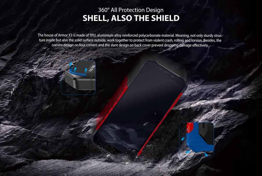 Ulefone Armor X3 (2+32Gb АКБ 5500 мАч) Red
