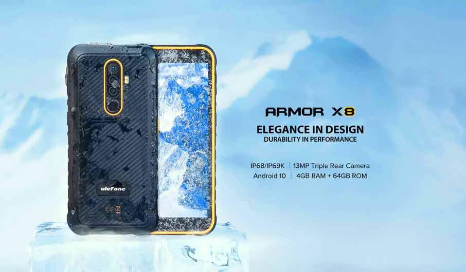 Ulefone Armor X8 (4+64Gb, 5080 мАч) Black