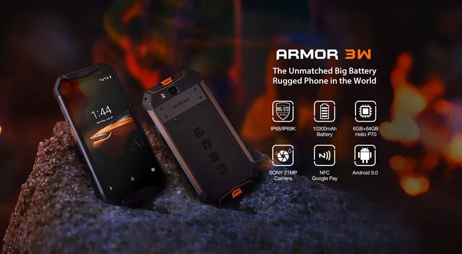 Ulefone Armor 3W (6+64Gb, АКБ 10300 мАч) Orange