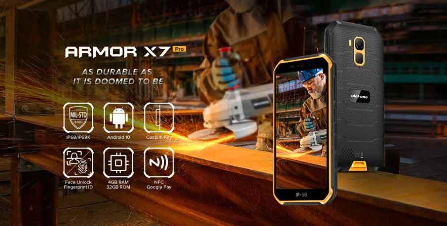 Ulefone Armor X7 Pro (4+32Gb, 4000 мАч) Black