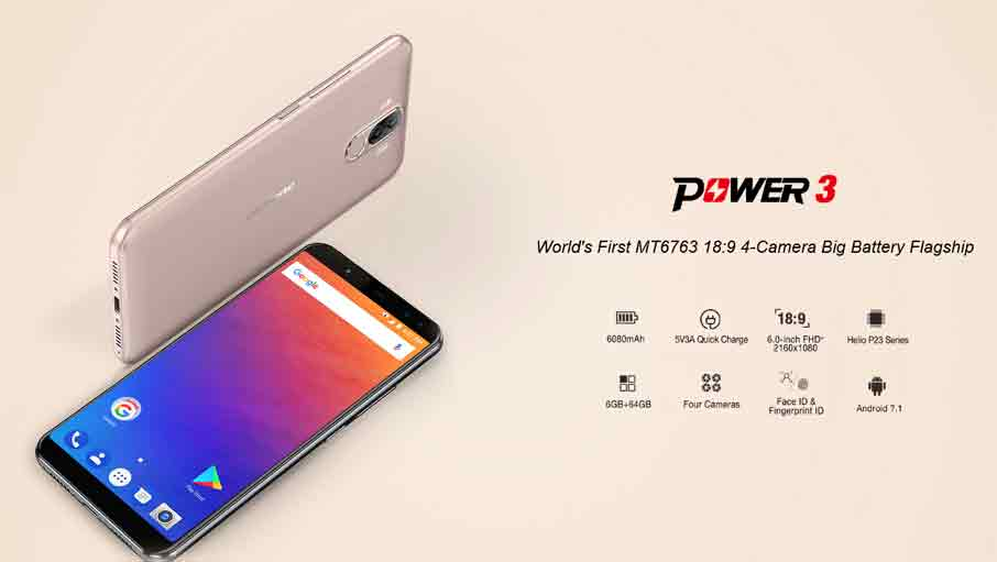 Ulefone Power 3 (6+64Gb) Gold