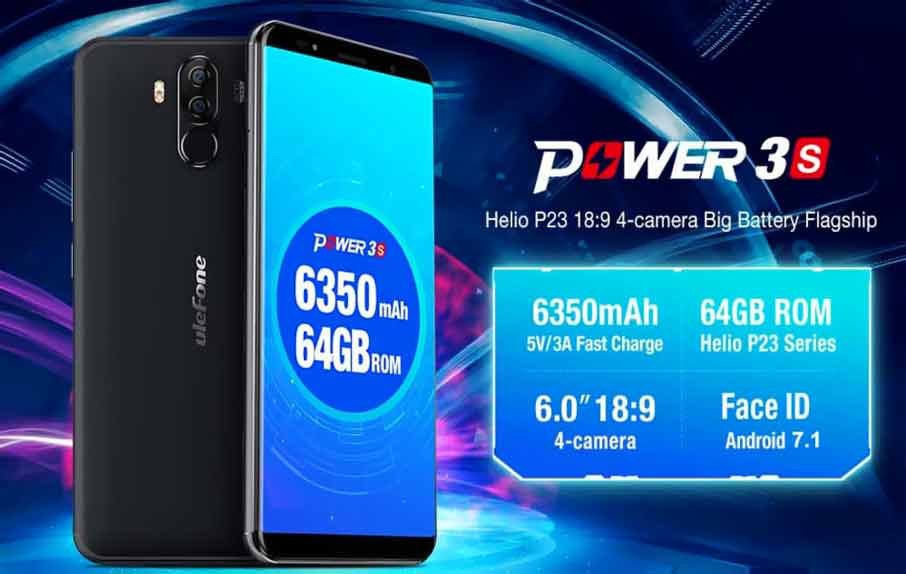 Ulefone Power 3S (4+64Gb) Black